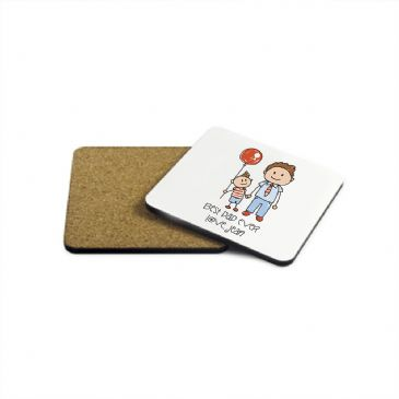 I Love My Dad Personalised Kid's Artwork Wooden Coaster
